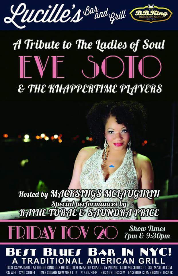 eve soto bb kings flyer nov 20 2015