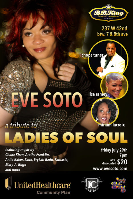 BBKIngs ladies of soul july 29th flyer 7pm